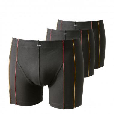 Pack de 3 Boxers noirs en Micromodal stretch : grande taille jusqu'au 7XL