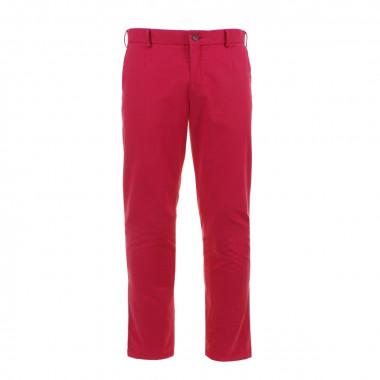 Pantalon coupe ajusté rouge: grande longueur de jambe 38US
