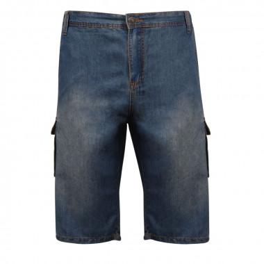 Bermuda en jean bleu: grande taille jusqu'au 70FR (55US)