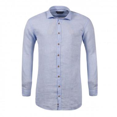 Chemise bleue ciel: manches extra-longues 72cm