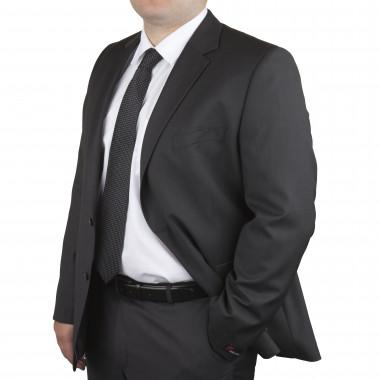 Veste de costume Marzotto anthracite : grande taille du 60 au 72