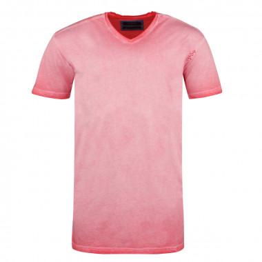T-shirt coton huilé corail pour Homme Grand : du M au 2XL