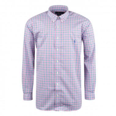 Chemise à carreaux rose: grande taille du XL au 5XL