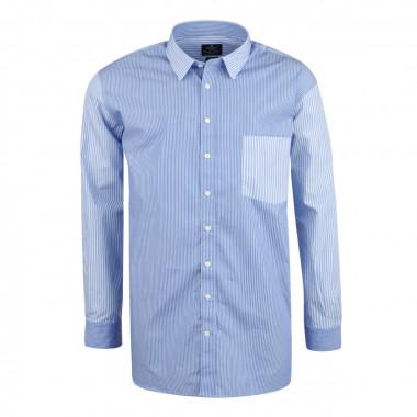 Chemise à rayures bâton bleu et blanc: grande taille du XL au 4XL