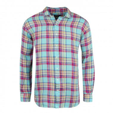 Chemise en lin bleu: grande taille du XL au 5XL