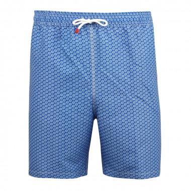 Short de bain fleuri bleu: grande taille du XL au 4XL