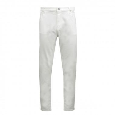 Jean blanc : grande longueur de jambe 38US