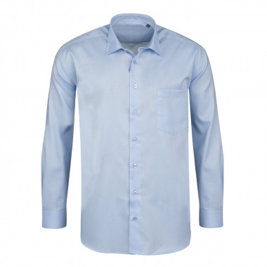 Chemise mini oxford bleu clair: grande taille du 44 (XL) au 50 (4XL)