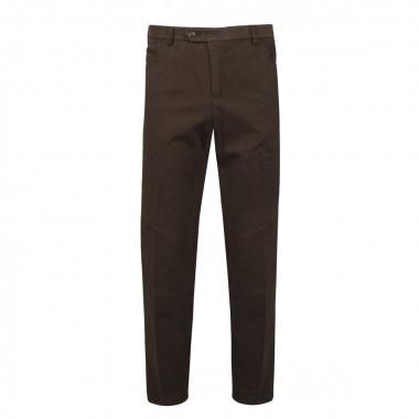Pantalon Chino confort stretch marron: grande taille jusqu'au 76FR (60US)