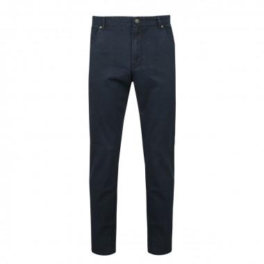 Pantalon 5poches microstructure bleu marine: grande longueur de jambe 38US
