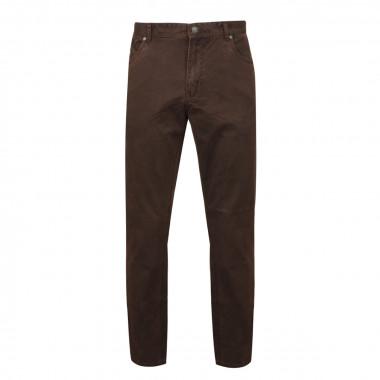 Pantalon 5poches microstructure marron: grande longueur de jambe 38US