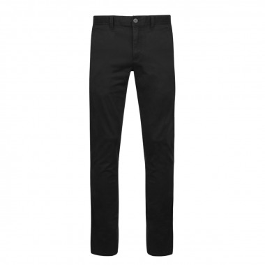 Pantalon chino peau de pêche noir: grande longueur de jambe 38US