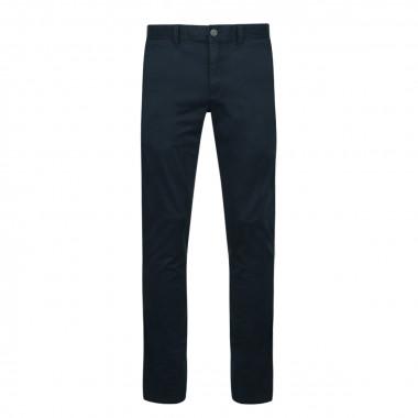 Pantalon chino peau de pêche bleu marine: grande longueur de jambe 38US