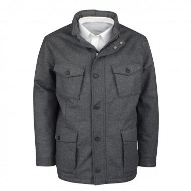 Manteau à chevrons gris clair: grande taille du 0XL au 4XL