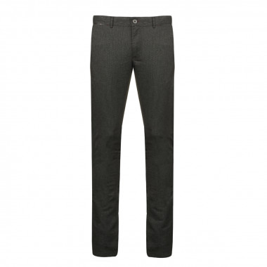 Pantalon chino aspect flanelle anthracite: grande longueur de jambe 38US
