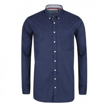 Chemise casual bleu marine: grande taille du XL au 4XL