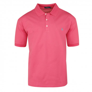 Polo stretch rose: grande taille du 1XL au 5XL