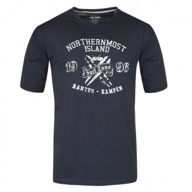Tee-Shirt imprimé marine : grande taille du 2XL au 8XL