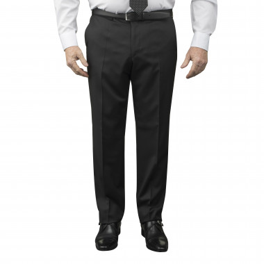 Pantalon de costume Reda noir : grande taille du 52 au 64