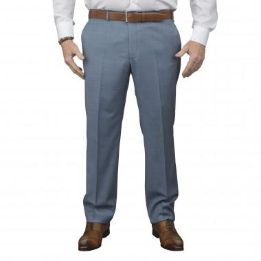 Pantalon de costume Reda bleu clair : grande taille du 52 au 64