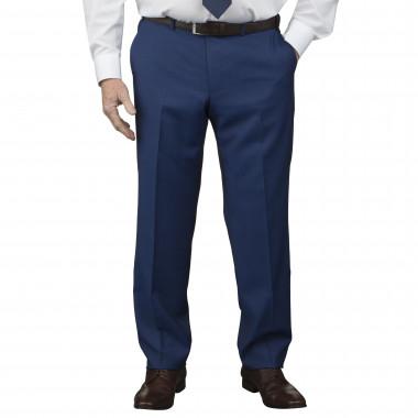 Pantalon de costume Marzotto marine : grande taille du 52 au 64