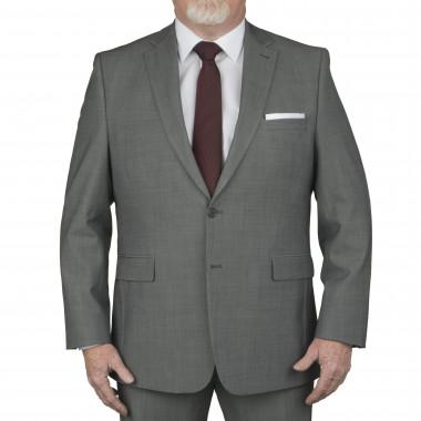 Veste de costume gris clair: grande taille du 60 au 70