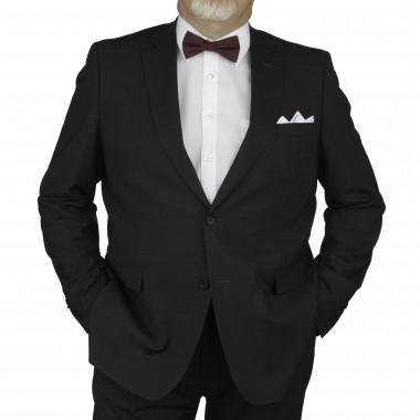 Veste de costume Prince de Galles anthracite: grande taille du 58 au 66