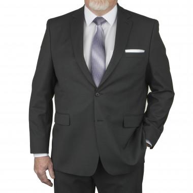 Veste de costume plomb: grande taille du 60 au 72