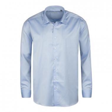 Chemise twill bleu: grande taille du 44 (XL) au 50 (4XL)