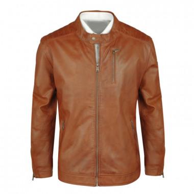 Blouson cuir marron: grande taille du 3XL au 8XL