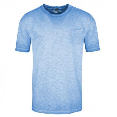Tee-shirt flammé bleu indigo: grande taille du 2XL au 8XL