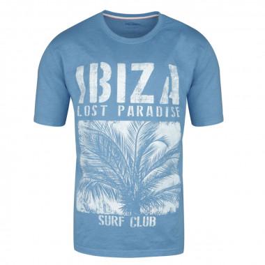 Tee-Shirt imprimé indigo : grande taille du 2XL au 8XL