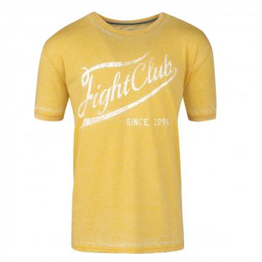 Tee-shirt délavé jaune: grande taille du 2XL au 8XL