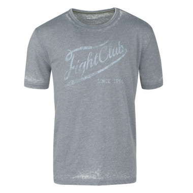 Tee-shirt délavé bleu gris pour Homme Grand : du M au 2XL