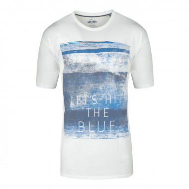 Tee-shirt imprimé blanc: grande taille du 2XL au 8XL
