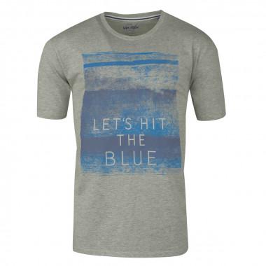 Tee-shirt imprimé gris: grande taille du 2XL au 8XL