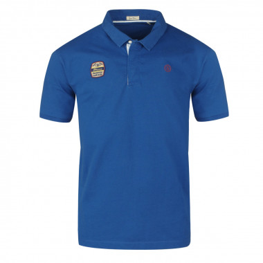 Polo jersey en lin bleu: grande taille du 3XL au 6XL