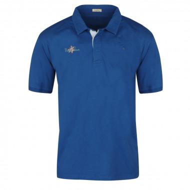 Polo jersey bleu: grande taille du 3XL au 6XL