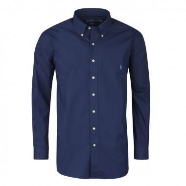 Chemise popeline bleu: grande taille du XL au 5XL