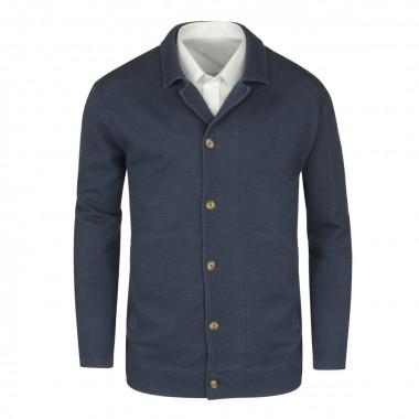 Veste bleu: grande taille du 60 au 68