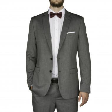 Veste de costume fil à fil gris pour Homme Grand du 50 au 58