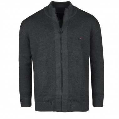 Gilet en laine gris: grande taille du 2XL au 5XL