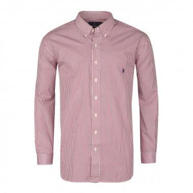 Chemise à rayures bâton  bordeaux: grande taille du XL au 5XL