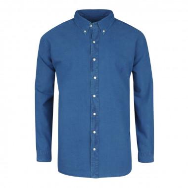Chemise oxford bleu: grande taille du XL au 5XL