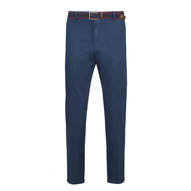 Pantalon chino avec ceinture bleu: grande taille jusqu'au 64FR (50US)