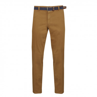 Pantalon chino avec ceinture marron: grande taille jusqu'au 64FR (50US)