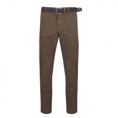Pantalon chino avec ceinture gris: grande taille jusqu'au 64FR (50US)