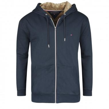 Sweat zippé bleu: grande taille du 2XL au 4XL