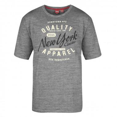 Tee-shirt gris: grande taille du 3XL au 6XL