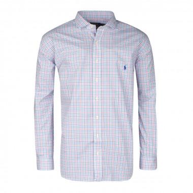 Chemise petits carreaux bleu: grande taille du XL au 5XL
